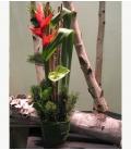 NOËL pot de fleurs coupées N13