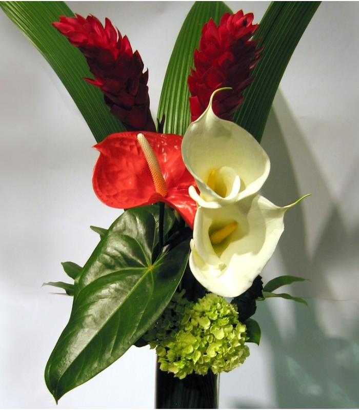 Bouquet saint valentin exotique fleuristemontreal for Bouquet saint valentin