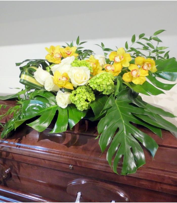 Funeral Sympathy Casket Flowers Roses