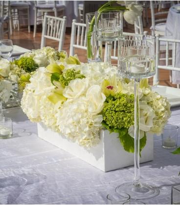 mariage centre de table blanc. Black Bedroom Furniture Sets. Home Design Ideas