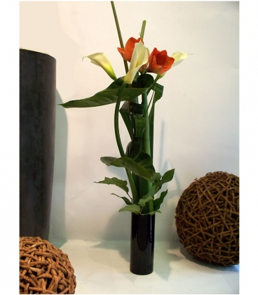 Bouquet calla amaryllis for Amaryllis en bouquet