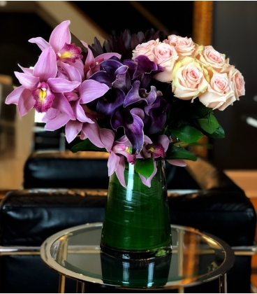 BOUQUET PINK AND PURPLE FLOWERS