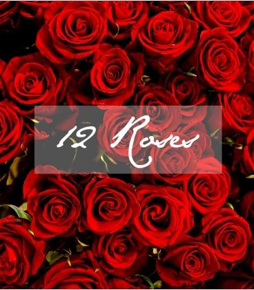 BOUQUET SAINT-VALENTIN 12 ROSES ROUGES LONGUES