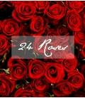 24 SHORT RED ROSES BOUQUET VALENTINE