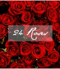 BOUQUET SAINT-VALENTIN 24 ROSES ROUGES LONGUES