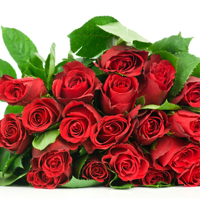 Red roses bouquet with beautiful roses